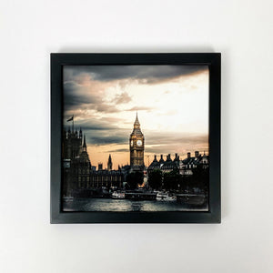 Black framed photo tile front