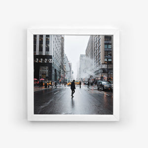 White framed photo tile
