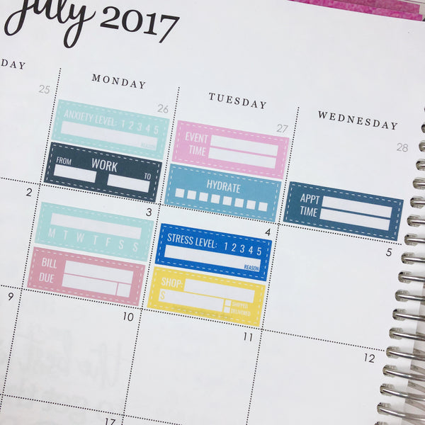 Class Schedule Tracker | Functional Stickers - Ambitious Mimi