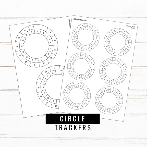 Circle Habit Trackers - Ambitious Mimi