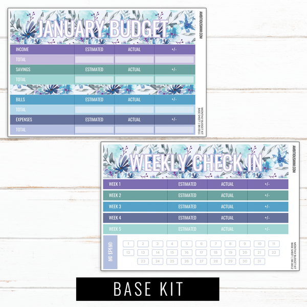 January Budget Sticker Kit | Full Listing (Base Kit, Transaction Log, Debt Payment, Sinking Funds, Sinking Expenses)