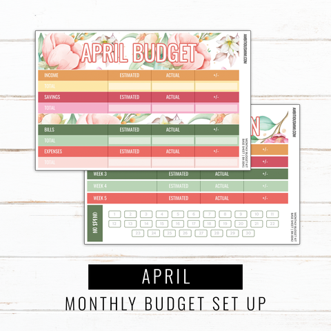 April Budget Sticker Kit | Full Listing (Base Kit, Transaction Log, Debt Payment, Sinking Funds, Sinking Expenses)