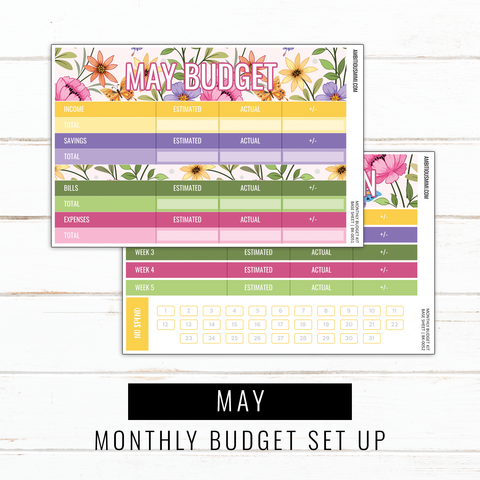 May Budget Sticker Kit | Full Listing (Base Kit, Transaction Log, Debt Payment, Sinking Funds, Sinking Expenses)