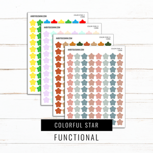 Colorful Stars | Functional Stickers