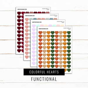 Colorful Hearts | Functional Stickers