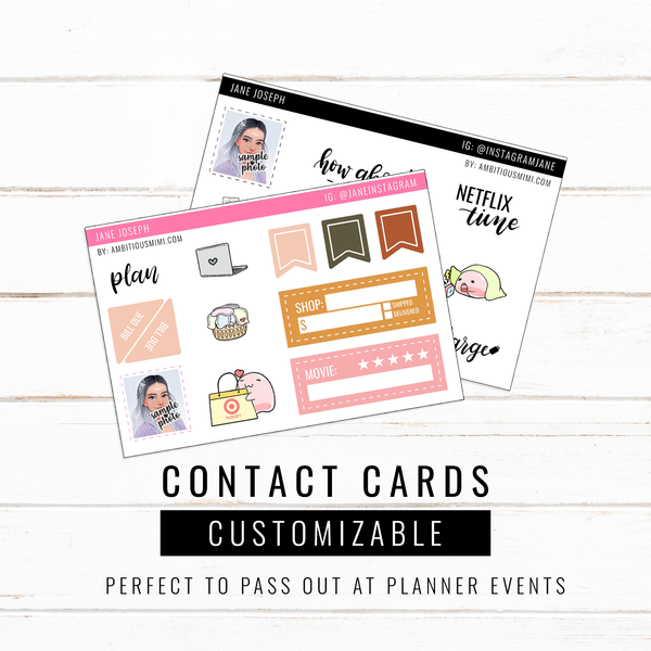 Customized Contact Cards