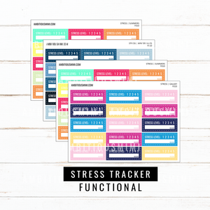 Stress Tracker | Functional Stickers - Ambitious Mimi