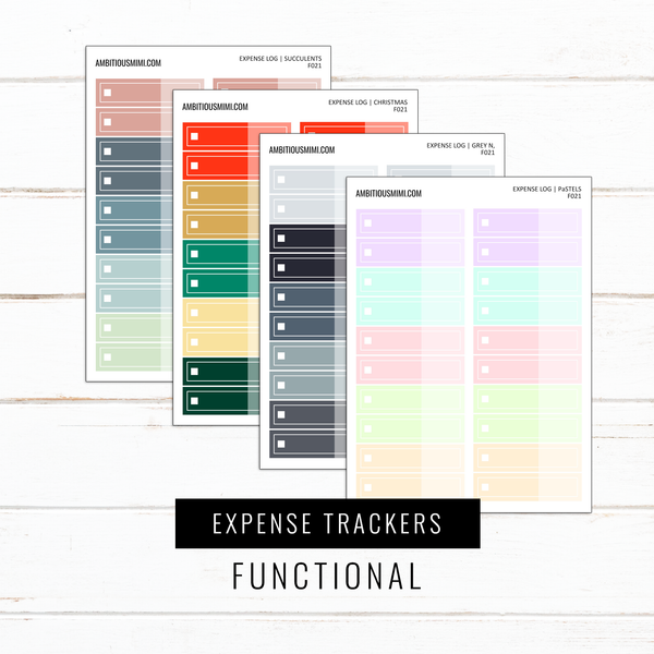 Budget Expense Trackers | Functional Stickers
