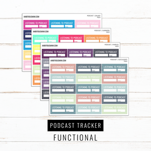 Podcast Trackers | Functional Stickers