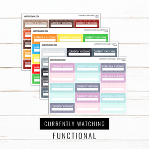Currently Watching Trackers | Functional Stickers