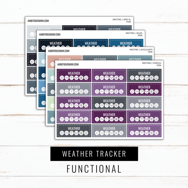 Weather Tracker | Functional Stickers