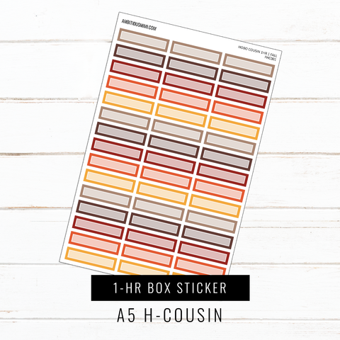 A5 Hobo Cousin | 1-HR Box Stickers