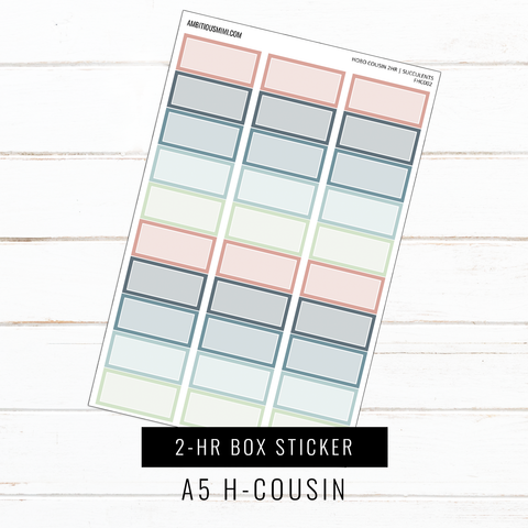 A5 Hobo Cousin | 2-HR Box Stickers