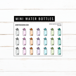 Mini Water Bottle Stickers - Ambitious Mimi