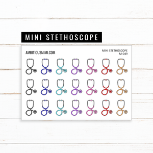 Mini Stethoscope Stickers - Ambitious Mimi