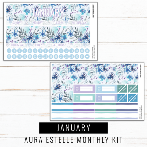 January Monthly Kit | Aura Estelle Monthly Sized