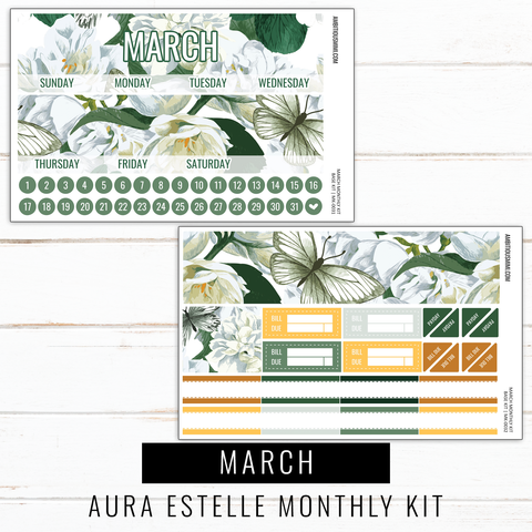 March Monthly Kit | Aura Estelle Monthly Sized