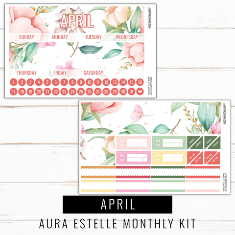 April Monthly Kit | Aura Estelle Monthly Sized