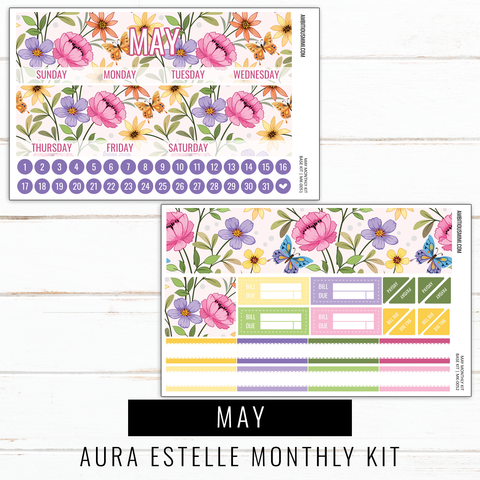May Monthly Kit | Aura Estelle Monthly Sized
