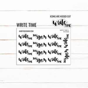 Handlettered Scripts | Write Time - Ambitious Mimi