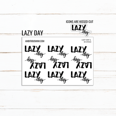 Handlettered Scripts | Lazy Day - Ambitious Mimi