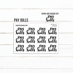 Handlettered Scripts | Pay Bills - Ambitious Mimi