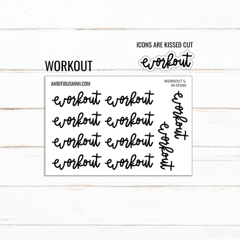 Handlettered Scripts | Workout - Ambitious Mimi