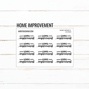 Handlettered Scripts | Home Improvement - Ambitious Mimi