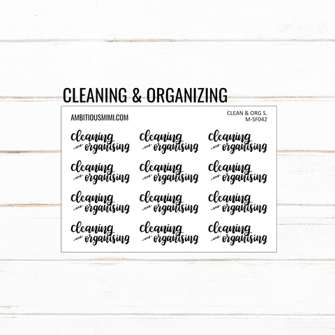 Handlettered Scripts | Cleaning & Organizing - Ambitious Mimi