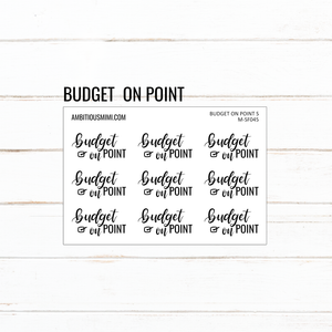Handlettered Scripts | Budget On Point - Ambitious Mimi