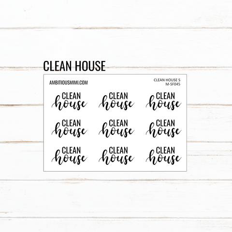 Handlettered Scripts | Clean House - Ambitious Mimi
