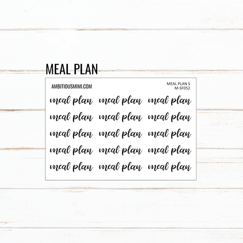 Handlettered Scripts | Meal Plan - Ambitious Mimi