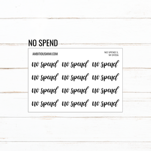 Handlettered Scripts | No Spend - Ambitious Mimi
