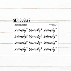 Handlettered Scripts | Seriously? - Ambitious Mimi