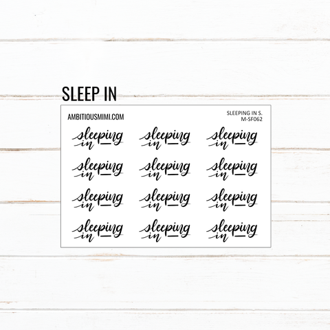 Handlettered Scripts | Sleep In - Ambitious Mimi