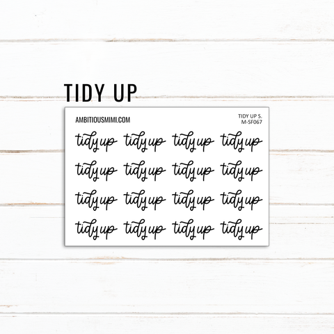 Handlettered Scripts | Tidy Up