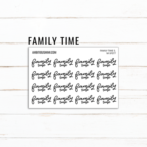 Handlettered Scripts | Family Time