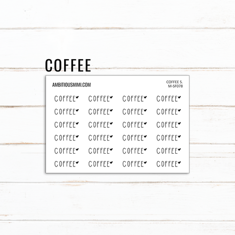 Handlettered Scripts | Coffee