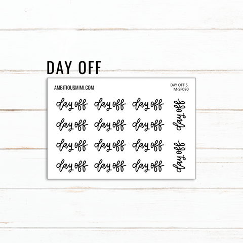 Handlettered Scripts | Day Off
