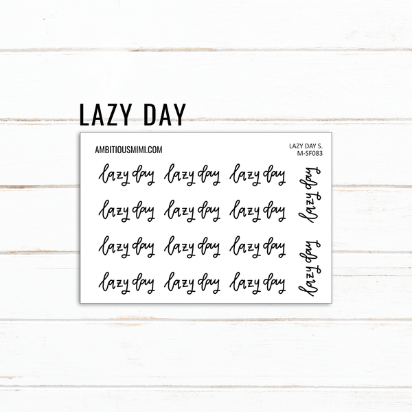 Handlettered Scripts | Lazy Day