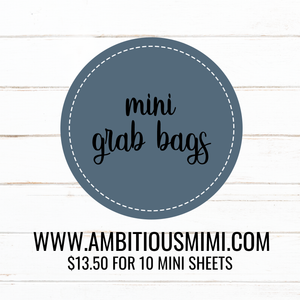 Mini Grab Bags (NOT OOPS)