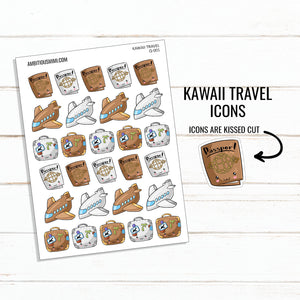 Kawaii Travel Icons - Ambitious Mimi