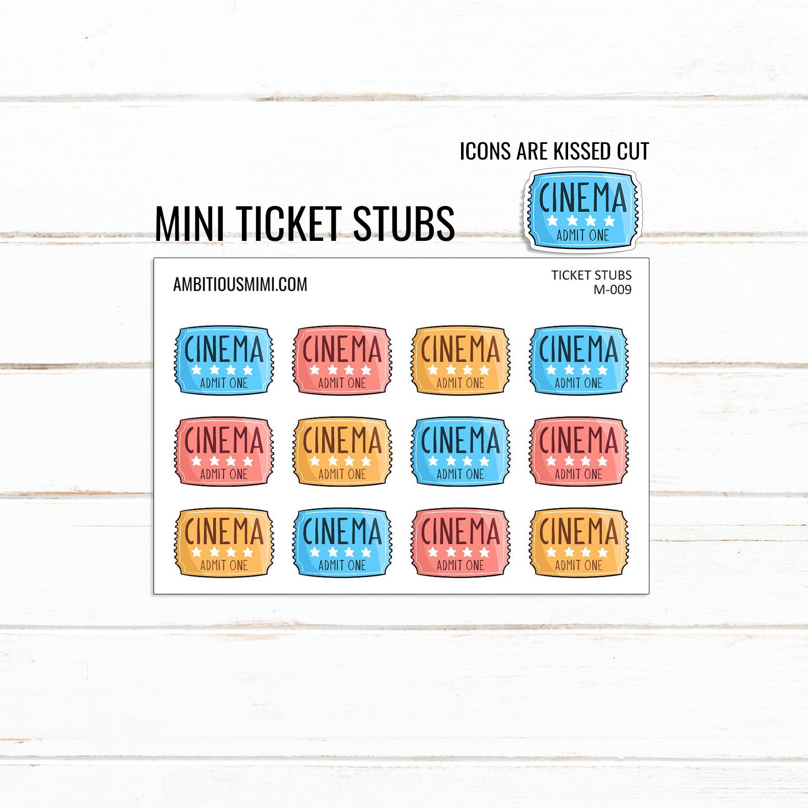 Kawaii Ticket Stubs - Ambitious Mimi