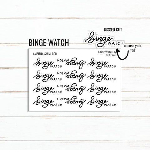 Handlettered Scripts | Binge Watch - Ambitious Mimi