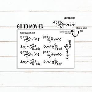 Handlettered Scripts | Go To Movies - Ambitious Mimi