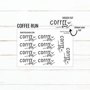 Handlettered Scripts | Coffee Run - Ambitious Mimi
