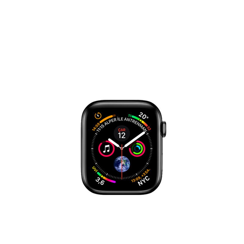 Apple Watch Series 4(Cellular Edition, Steel, 40mm) 16GB HDD Space Black A1975 MTUQ2LL/A