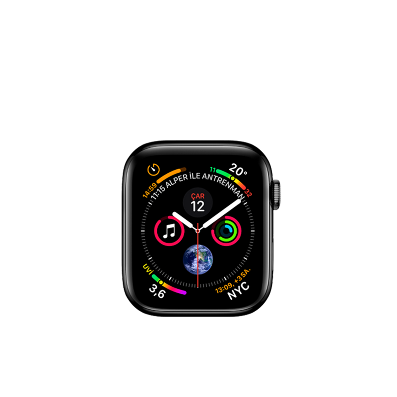 Apple Watch Series 4(Cellular Edition, Steel, 44mm) 16GB HDD Space Black A1976 MTV62LL/A