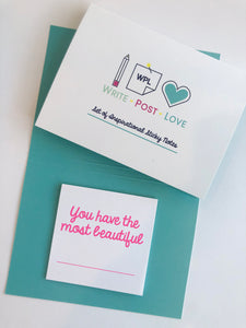 Sticky Notes White - 1 pack - Write Post Love