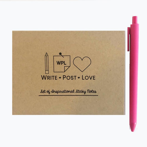 Sticky Notes Kraft - Double Pack (Double the notes in 1 folder) - Write Post Love
